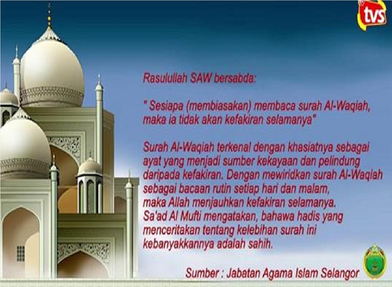 Khasiat Surat Al Waqiah Untuk Jodoh Kumpulan Surat Penting